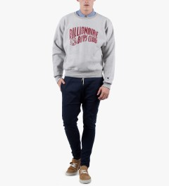 Billionaire Boys Club Heather Grey Billionaire Boys Club x Champion S/S Classic Arch Logo Sweater Model Picutre