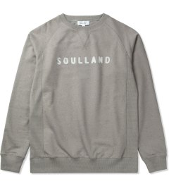 Soulland Grey Melange with White/Multicolor PF14 Capitals Sweat Sweater Picutre