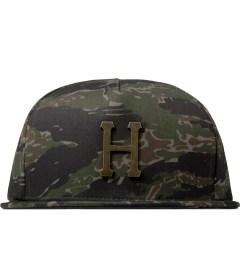 HUF Olive Tiger Camo Metal H Snapback Cap Picutre
