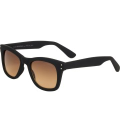 KOMONO Black Rubber Allen Sunglasses Model Picutre
