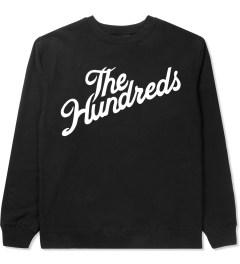 The Hundreds Black Forever Slant Crewneck Sweater Picutre