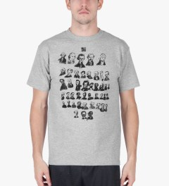 Heel Bruise Heather Grey Presidents T-Shirt Model Picutre