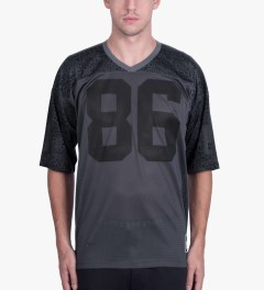 HUF Black Shell Shock Football Jersey Model Picutre