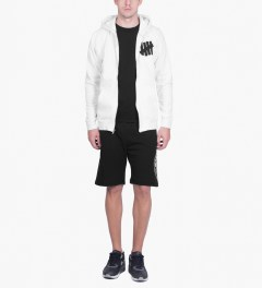 Undefeated White 5 Strike Basic Zip Hoodie Model Picutre