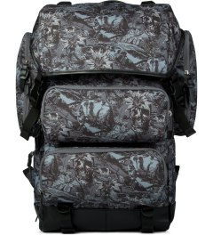Brownbreath Black SYM Pattern Messenger Backpack Picutre