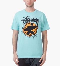 Stussy Light Blue Pop Surfman T-Shirt Model Picutre