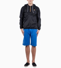 The Hundreds Blue Bars Sweat Short Model Picutre