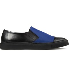 SILENT Damir Doma Vintage Black/Blue Sun Classic Slip-On Shoes Picutre