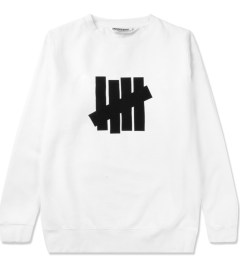 Undefeated White 5 Strike Basic Sweater Picutre