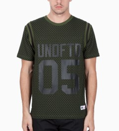 Undefeated Olive Gridiron T-Shirt Model Picutre
