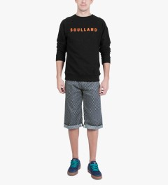 Soulland Black with Orange/Multicolor PF14 Capitals Sweat Sweater Model Picutre