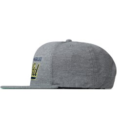 Undefeated Heather Grey Script Snapback Cap Model Picutre