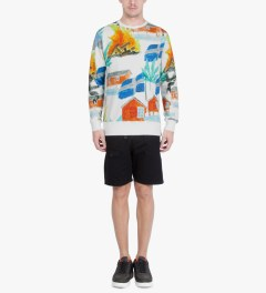 Soulland Off White with Colors PF14 SVEA Sweat Sweater Model Picutre