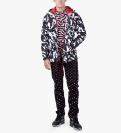 Lazy Oaf Black/White Digital Rain Mac Jacket Model Picutre