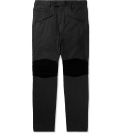 A. Sauvage Black Pleated Knee Chino Trousers Picutre
