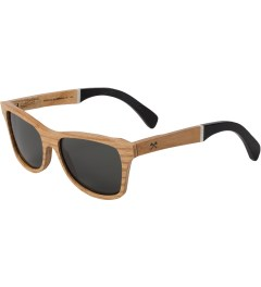 Shwood Grey Polarized Canby: Slugger Select Sunglasses Model Picutre