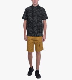 10.Deep Black DVSN One Up Button Down S/S Shirt Model Picutre