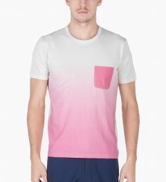 Aloye Off-white/Pink Gradation Print S/S T-Shirt Model Picutre