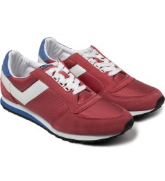 PONY Red/White Joggy Ox Nylon Sneakers Model Picutre