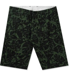 Carhartt WORK IN PROGRESS Trekking Green/Black Lotus Print Johnson Bermuda Shorts Picutre