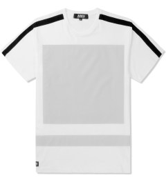 AMH White Reflective Block Panel T-Shirt Picutre