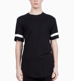 Stampd Black Elongated LA T-Shirt Model Picutre