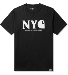 Carhartt WORK IN PROGRESS Black/White S/S New York T-Shirt Picutre