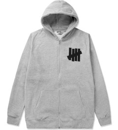 Undefeated Heather Grey 5 Strike Basic Zip Hoodie Picutre