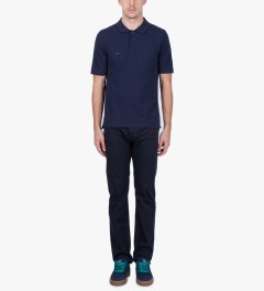 Band of Outsiders Midnight Blue SS Trap Pocket Polo Shirt Model Picutre