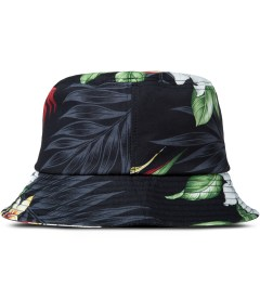 Liful Black Hawaiian Flower Bucket Hat Picutre