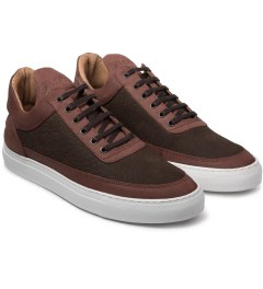 Filling Pieces Elephant Embossed Brown Low Top Shoe Model Picutre
