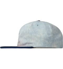 The Hundreds Navy Hill Snapback Model Picutre