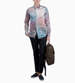 Paul Smith Lightbox Mesh Print Shirt Model Picutre