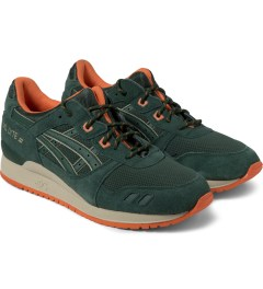 ASICS Dark Green Asics Gel Lyte III Sneakers Model Picutre