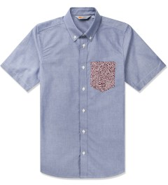 Carhartt WORK IN PROGRESS Deep Night/Cordova Flora Print S/S Pritter Shirt Picutre