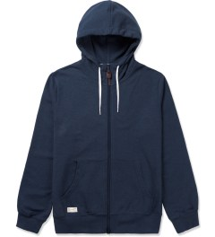 Marshall Artist Navy Melange Zip-Through Hoodie Picutre