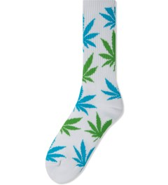HUF White/Blue/Green Plantlife Crew Socks Picutre