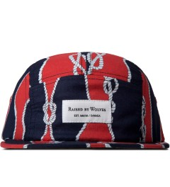 Raised by Wolves Red/Navy Sailor's Knot Algonquin 5-Panel Cap Picutre