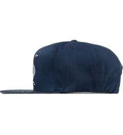 Staple Navy Louis Pigeon Mitchell & Ness Snapback Cap Model Picutre