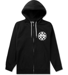 Stussy Black Checks Stock Zip Hoodie Picutre