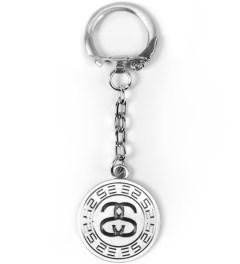 Stussy Silver Greek Keychain Picutre