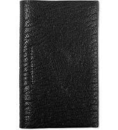 POSTALCO Black Geology Goatskin Card Holder Picutre