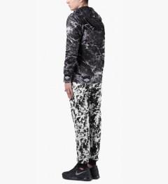 AURA GOLD Black Neoprene Splatter Drop Crotch Pants Picutre