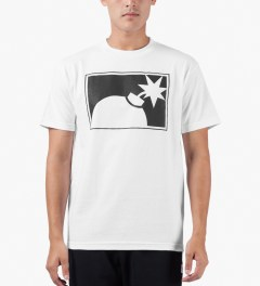The Hundreds White Forever Half-bomb T-Shirt Model Picutre