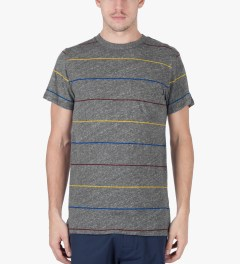 ONLY Heather Grey Primary Stripes Pocket T-Shirt Model Picutre