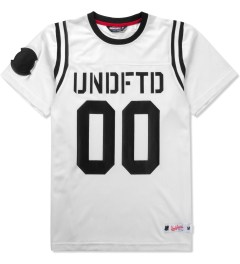 Undefeated White 00 Mesh Football T-Shirt Picutre