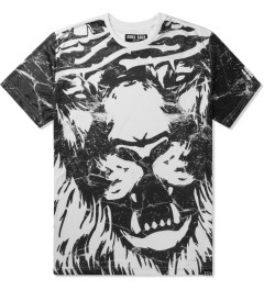AURA GOLD White Marble Lion Sub T-Shirt Picutre