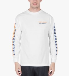 The Hundreds White Sunnyside L/S T-Shirt Model Picutre