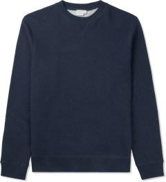 SUNSPEL Navy Melange Sweat Top Sweater Picutre