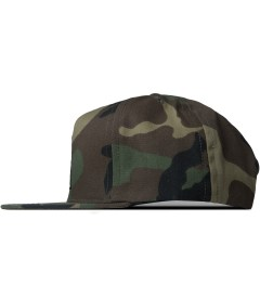 HUF Woodland Camo Triple Triangle Snapback Cap Model Picutre
